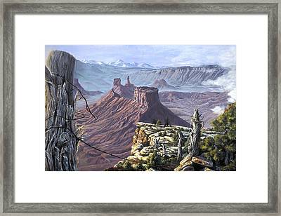 Morning Boundaries Framed Print