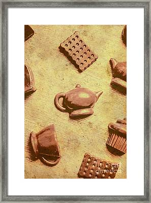 Morning Breakfast Chocolate Tea Set  Framed Print