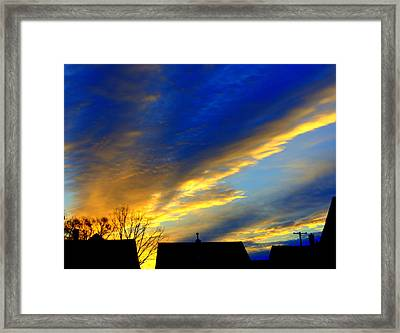Morning Breaking Over The City Framed Print