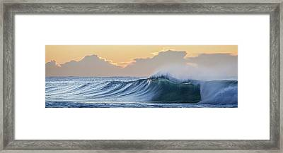 Framed Print featuring the photograph Morning Breaks by Az Jackson
