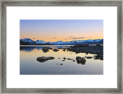 Morning By The Lake Framed Print by Ng Hock How