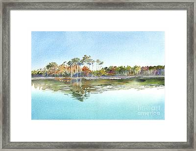 Morning Calm Framed Print by Amy Kirkpatrick