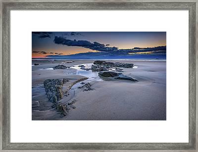 Morning Calm On Wells Beach Framed Print by Rick Berk