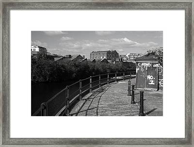 Morning Canal Path Framed Print by Jez C Self