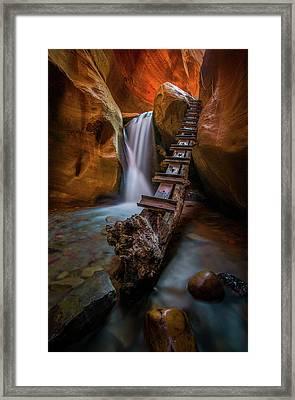 Morning Canyon Glow // Kanarra Falls, Utah Framed Print