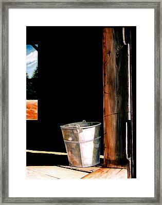 Morning Chores  Framed Print