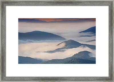 Morning Cloud Colors Framed Print