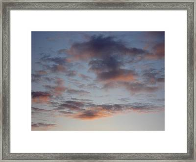 Morning Clouds Framed Print by Marilynne Bull