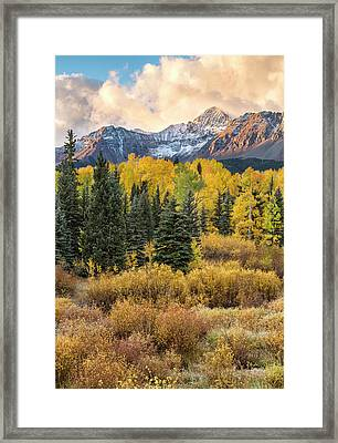 Morning Clouds, Wilson Peak Framed Print