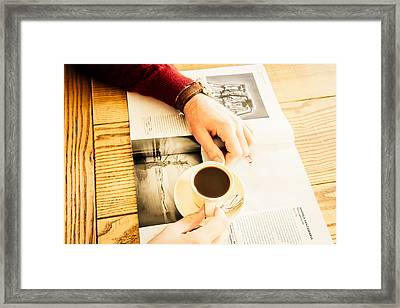 Morning Coffee Framed Print by Cesare Bargiggia
