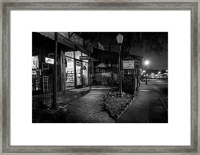 Morning Coffee In Black And White Framed Print