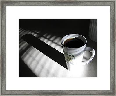 Morning Coffee Framed Print by Lindie Racz