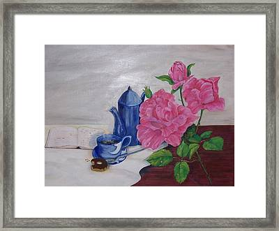 Morning Coffee Framed Print by Penny Everhart