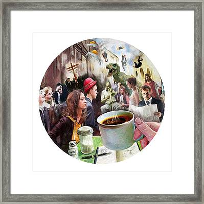 Morning Coffee With Eggs Over Easy Framed Print