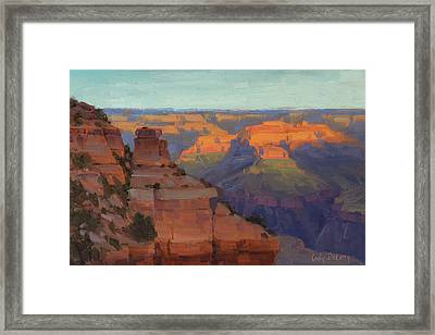 Morning Color - Yaki Point Framed Print