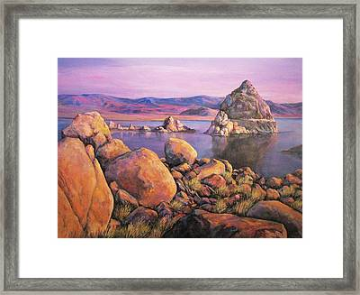 Morning Colors At Lake Pyramid Framed Print
