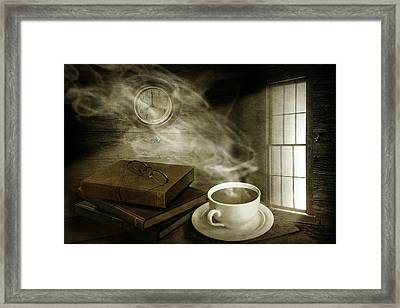 Morning Cup Of Coffee Framed Print by Randall Nyhof