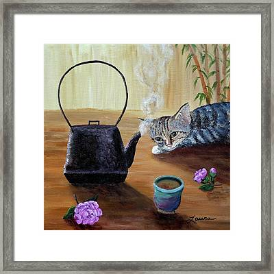 Morning Cup Of Tea Framed Print by Laura Iverson