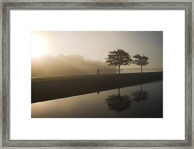 Morning Cycle Galway Ireland Framed Print