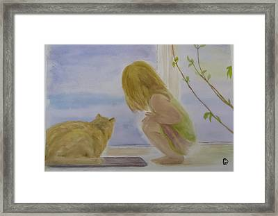 Morning Discover Framed Print by Annie Poitras