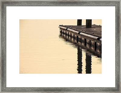 Morning Dock Framed Print by Karol Livote