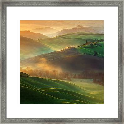 Morning Dreams Framed Print by Krzysztof Browko