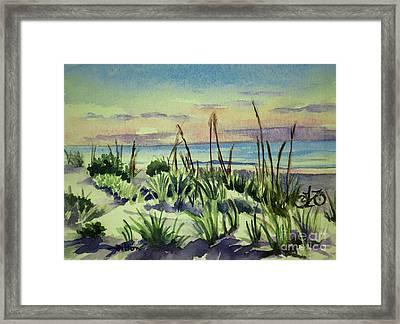 Morning Dunes  7-7-2017 Framed Print