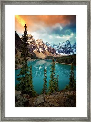 Morning Eruption  Framed Print