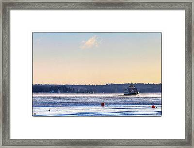 Morning Ferry Framed Print
