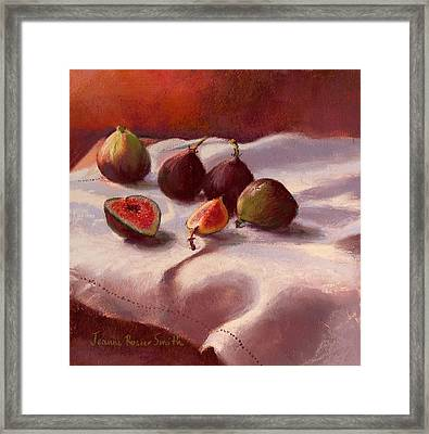Morning Figs Framed Print by Jeanne Rosier Smith