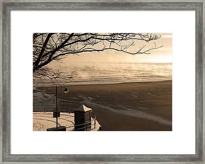 Morning Filey Beach Framed Print by Svetlana Sewell