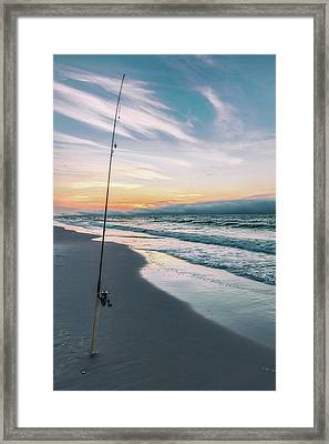 Framed Print featuring the photograph Morning Fishing At The Beach  by John McGraw