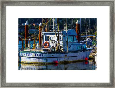 Morning Fishing Boat Framed Print by Garry Gay