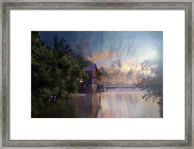 Framed Print featuring the photograph Morning Fishing  by Joel Witmeyer