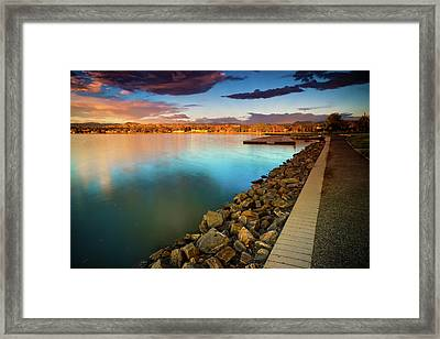 Morning Fleeting Light Framed Print by John De Bord