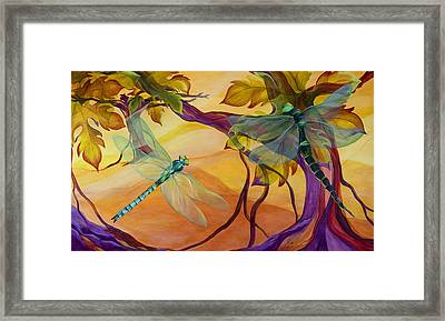 Morning Flight Framed Print by Karen Dukes