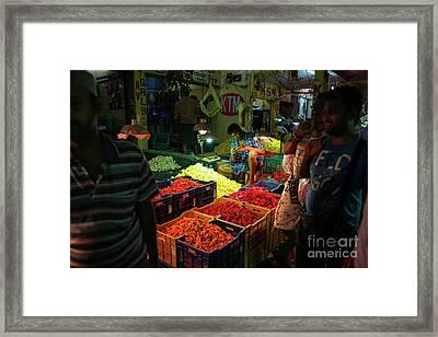 Morning Flower Market Colors Framed Print