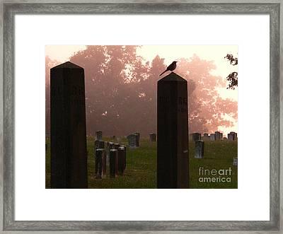 Morning Fog Along The Tennessee Framed Print by David Bearden