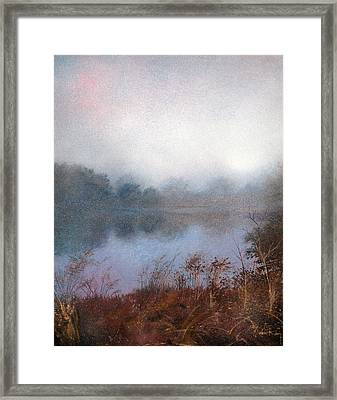 Framed Print featuring the painting Morning Fog by Andrew King