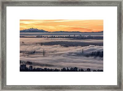 Morning Fog Framed Print by DGS Full Spectrum Photography