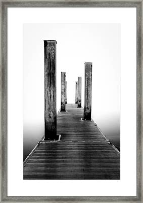 Morning Fog Framed Print by Drew Castelhano