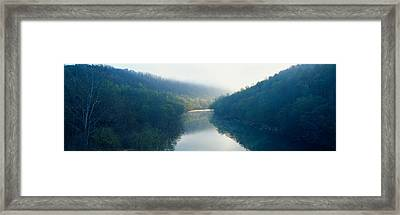 Morning Fog On Cumberland River Framed Print by Panoramic Images
