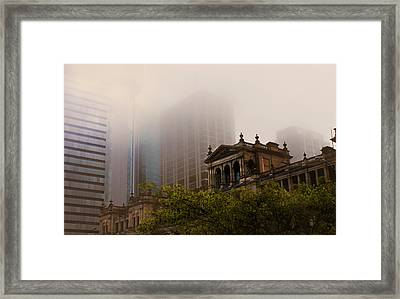 Morning Fog Over The Treasury Framed Print