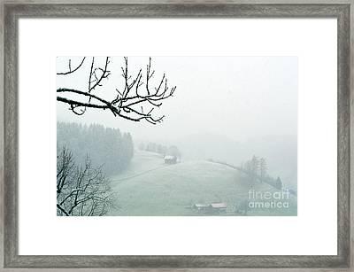 Morning Fog - Winter In Switzerland Framed Print