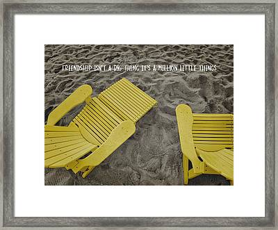 Morning Footsteps Quote Framed Print by JAMART Photography