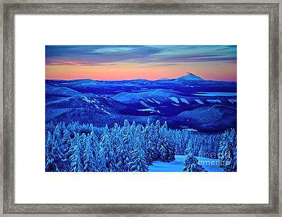 Morning From Timberline Lodge Framed Print