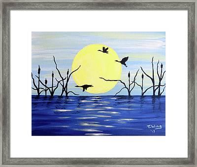 Morning Geese Framed Print