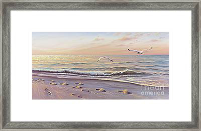 Morning Glisten Framed Print by Joe Mandrick