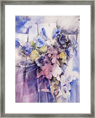Morning Glories Framed Print by Joan  Jones