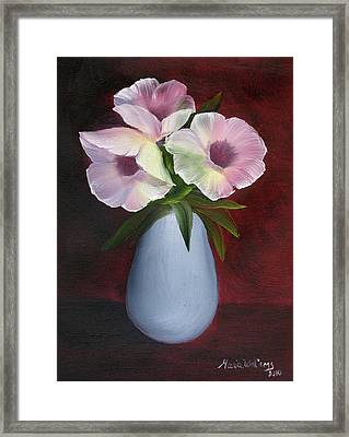 Morning Glories Framed Print by Maria Williams